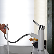 Contemporary Art Deco Retro Centerset Pullout Spray with Ceramic Valve  Single Handle One Hole forPullout Spray  Bathroom Sink Faucets  Search LightInTheBox. Bath Faucet With Pull Out Spray. Home Design Ideas