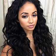 Grade 9A Peruvian Virgin Hair Lace Front Wigs Natural Wave Hair 130% Density Human Virgin Hair Lace Wigs For Black Woman