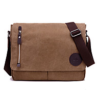 Unisex Bags All Seasons Canvas Messenger Bag for Casual Sports Formal Outdoor Office & Career Brown Black