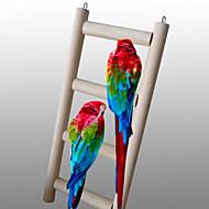 鳥 とまり木&はしご ウッド ベージュ