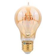 4W E27 Lâmpadas de Filamento de LED A60(A19) SMD 400 lm Branco Quente 2200-2700 K Decorativa AC 220-240 V