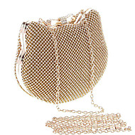 Women Bags All Seasons Metal Evening Bag Crystal/ Rhinestone for Wedding Event/Party Formal Gold Silver