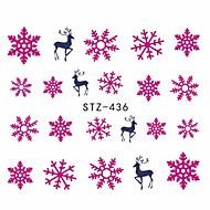 Χαμηλού Κόστους Χριστούγεννα Nail Art-1pcs Αυτοκόλλητο μεταφοράς νερού τέχνη νυχιών Μανικιούρ Πεντικιούρ Μοντέρνα Καθημερινά