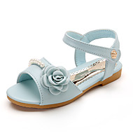 baratos Sapatos de Menina-Para Meninas Sapatos Couro / Couro Ecológico Primavera Verão Conforto Rasos para Bege / Rosa claro / Azul Claro