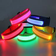 Braçadeira de Corrida com LED Cinto Luminoso Impermeável para Campismo / Escursão / Espeleologismo Ciclismo Exterior-Vermelho Verde