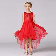Dívka je Bavlna Polyester Jednobarevné Léto Šaty,Bez rukávů