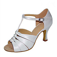 baratos Sapatilhas de Dança-Mulheres Sapatos de Dança Latina / Sapatos de Jazz / Sapatos de Salsa Cetim Sandália / Salto Presilha / Fru-Fru Salto Personalizado