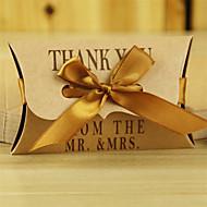 50pcs yastık kraft kağıt kutusu şeker kutusu düğün kutusu hediye kutusu
