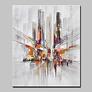 baratos -Pintura a Óleo Pintados à mão - Paisagem / Paisagens Abstratas Modern / Estilo Europeu Tela de pintura
