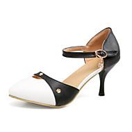 baratos Sapatos de Tamanho Pequeno-Mulheres Sapatos Courino Materiais Customizados Gliter Primavera Verão Outono Sapatos clube Conforto Saltos Salto Agulha Dedo Apontado