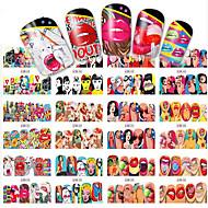 1pcs 12 Design Fashion Pop Art Style Design Nail Art Sticker Sexy Cartoon Interesting Design Full Cover Water Transfer Decals BN349-360