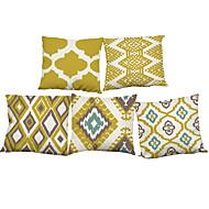"""Ensemble de 5 motifs de géométrie de style nordique décoration à tirage imprimé imprimé pour housse d'oreiller canapé (18 """"* 18"""")"""