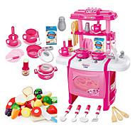 Doen alsof-spelletjes Toy Keuken Sets Toy Borden & Tea Sets Kids 'Cooking Appliances Speeltjes Speeltjes LED-verlichting Geluid Meisjes 22