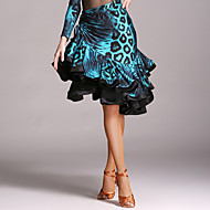 cheap Dancewear & Dance Shoes-Latin Dance Tutus & Skirts Women's Performance Velvet Cascading Ruffle Natural Skirt