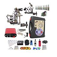 baratos Kits de Tatuagem para Iniciantes-BaseKey Máquina de tatuagem Conjunto de Principiante, 2 pcs máquinas de tatuagem com 10 x 5 ml tintas de tatuagem - 2xMáquina Tatuagem de