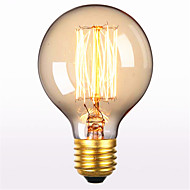 G80 AC 220-240V E27 60W Straight Wire Retro Creative Art Personality Decorative Edison Light Bulb 1PCS