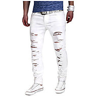 cheap -Men's Slim Slim Chinos Jeans Pants - Solid, Ripped
