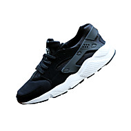Erkek Ayakkabı PU Bahar Sonbahar Çift Ayakkabı Atletik Ayakkabılar Bağcıklı Uyumluluk Günlük Siyah Siyah/Beyaz