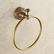 cheap Antique Brass Series-Towel Ring Contemporary Brass Stainless Steel Wall Mounted