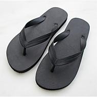 Herre-Gummi-Flat hæl-Komfort-Tøfler og flip-flops-Friluft Fritid-Svart