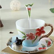billiga Dricksglas-Dryckes Keramisk Kaffemuggar Värmeisolerad 1 pcs