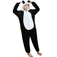 Voksne Kigurumi-pyjamas Panda Onesie-pyjamas Flanel Fleece Hvid Cosplay Til Damer og Herrer Nattøj Med Dyr Tegneserie Halloween Festival / Højtider