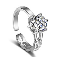 Dame Ring - Stilfuld Justerbar Sølv Til Bryllup / Fest / Speciel Lejlighed