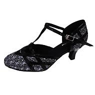 billige Moderne sko-Dame Moderne sko Glimtende Glitter Sandaler Kustomisert hæl Kan spesialtilpasses Dansesko Svart / Rød / Brun / Innendørs / Ytelse / Trening / Profesjonell