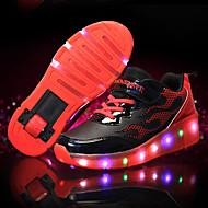 baratos Sapatos de Menino-Sapatos Courino Primavera / Verão / Outono Tênis com LED Tênis Tênis para Skate LED para Azul / Rosa claro / Laranja e Preto