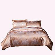 布団カバーセット 純色 4個 ポリ/コットン ジャカード織 ポリ/コットン 1×布団カバー 2×枕カバー 1×フラットシーツ