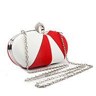 cheap Bags-Women's Bags PU Evening Bag for Wedding Event/Party Casual Formal Office & Career Winter Spring Summer Fall All Seasons Blue Black Red