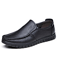 cheap Extended-Size Shoes-Men's Shoes Leather Spring Fall Fashion Boots Moccasin Comfort Loafers & Slip-Ons Ruffles for Casual Office & Career Outdoor Party &