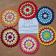 cheap Table Linens-Set of 6 pieces doily Assorted Shabby Chic Vintage Look Crocheted Doilies