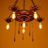 6-Light Industriel Vedhæng Lys Baggrundsbelysning - Ministil, 110-120V / 220-240V Pære ikke Inkluderet / 15-20㎡ / E26 / E27
