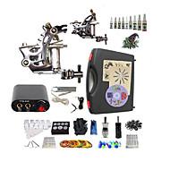 Komplett tatoveringssett1 x roterende tatoveringsmaskin til lining og skyggelegging 1 x legering tatovering maskin for fôr og
