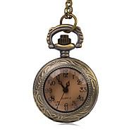 女性用 懐中時計 模造ダイヤモンド クォーツ 合金 バンド ビンテージ ブロンズ