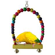 鳥 鳥用おもちゃ ウッド グリーン イエロー パープル