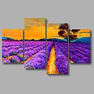 cheap Stretched Canvas Prints-Stretched Canvas Print Abstract Landscape Modern, Four Panels Canvas Any Shape Print Wall Decor Home Decoration