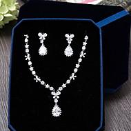 billiga Brudsmycken-Kubisk Zirkoniumoxid Smyckeset - Zircon Omfatta Silver Till Bröllop / Party / Speciellt Tillfälle / Dagligen / Casual