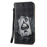 Etui Käyttötarkoitus Samsung Galaxy S8 Plus S8 Korttikotelo Tuella Flip Kuvio Magneetti Kokonaan peittävä Pääkallot Kova PU-nahka varten