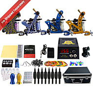 cheap Discount Tattoo Kits-Complete Tattoo Kit 4 alloy machine liner & shader 4 Tattoo Machines LCD power supply Inks Shipped Separately