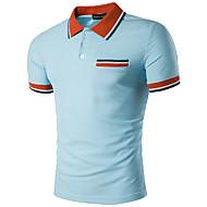 Men's Street chic Polo - Geometric Shirt Collar Yellow L / Short Sleeve