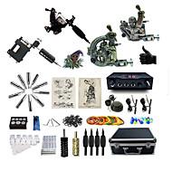 お買い得  プロのタトゥーキット-完全なタトゥーキット 1 xライニングとシェーディング用鋼入れ墨機械 2 xライニングとシェーディング用ロータリー墨機械 ライニングとシェーディングのための1つのx合金の入れ墨機械 3 タトゥーマシン LED電源 インクは別々に出荷します