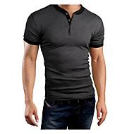 Majica s rukavima Muškarci, Ležerne prilike Dnevno Sport Vikend Jednobojni Kratkih rukava Okrugli izrez Pamuk Poliester