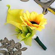 billiga Brudbuketter-Brudbuketter Bukett Boutonnieres Unik bröllopsdekor Andra Konstgjorda blommor Bröllop Speciellt Tillfälle Fest / afton Material Spets