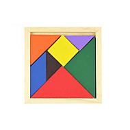 Tangram Puslespil Træpuslespil Pædagogisk legetøj Kvadrat GDS Klassisk Gave