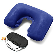 Travel Eye Mask / Sleep Mask Travel Pillow Travel Ear Plugs Foldable U Shape Travel Rest Inflatable Multi-function Neck Support Solid
