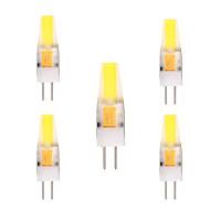 cheap LED Bulbs-YWXLIGHT® 5pcs 2W 150-200lm G4 LED Bi-pin Lights T 1 LED Beads COB Decorative Warm White Cold White 12V 12-24V