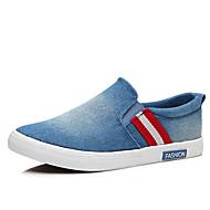 baratos Sapatos Masculinos-Homens Lona Primavera / Outono Conforto Mocassins e Slip-Ons Caminhada Preto / Azul Escuro / Azul Claro