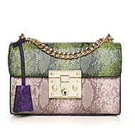 Women Bags All Seasons PU Shoulder Bag for Wedding Event/Party Casual Formal Office & Career Blue Green Red